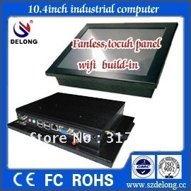 10.4inch touch panel pc with front IP65 ,RS232,aluminium industrial,fanless