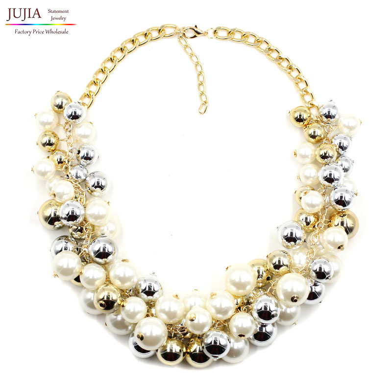 2017 NEW fashion necklace collar pearl Necklaces & Pendants trendy choker statement simulated pearlnecklace - JUJIA Official Store store