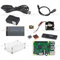Raspberry Pi 3 Model B Board 3 5 Touch Screen Case 16GB TF Card Cooling Fan