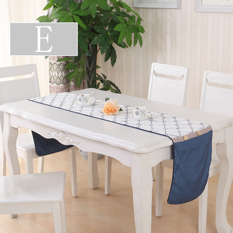 2016 New Blue European-Style Table Runner Vintage Natural Burlap Tablecloth Jute Wedding Party Decor Tea Table Flag Table Runner(China (Mainland))