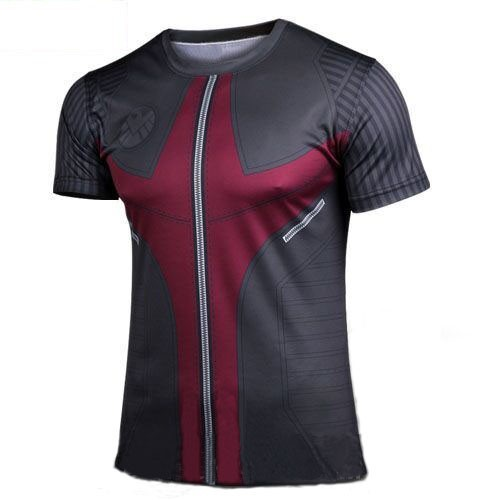2015 new compressed T-shirt hot superman and eagle eye T-shirt male fitness clothes quick dry captain America XS - 4 xl size(China (Mainland))