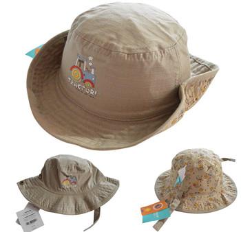 New Fashion Baby Bucket Hats Fishing Cap Children Cotton Sun Caps Boys Baby Hat 2015