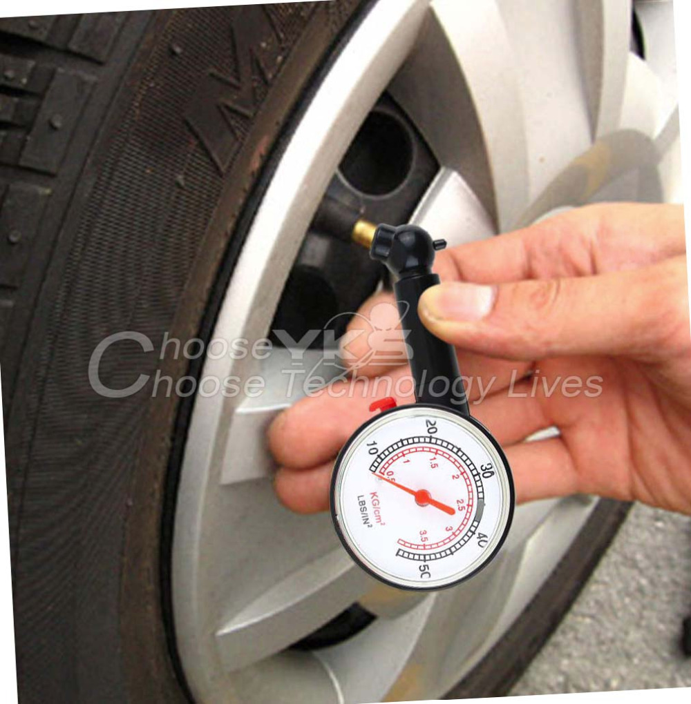 1pcs New Car Vehicle Motorcycle Dial Tire Gauge Meter Pressure Tyre Measurement Tool To save gas YKS(China (Mainland))