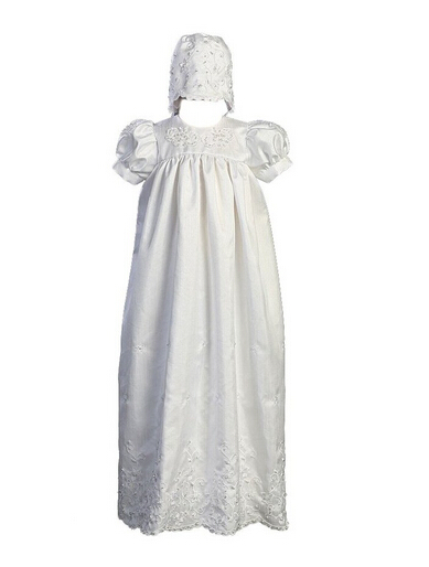 HELLOBABY Tailored baby girl beautiful christening gowns with hat, Delicate sequins embroidery 1334(China (Mainland))