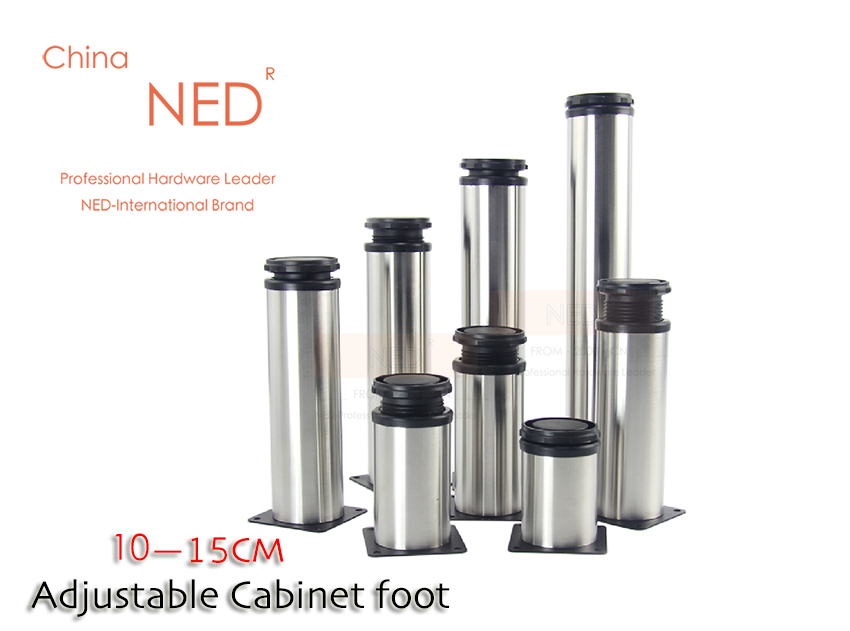 NED 10-15cm Adjustable Stainless Steel Furniture Cabinet Feet TV Cabinet Feet Cabinet Base Table Legs With Screws(China (Mainland))