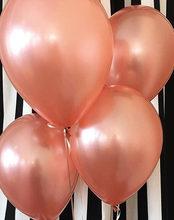 الذهب الوردي الأبيض بالونات 10 قطعة/الوحدة 10 بوصة نفخ اللاتكس بالونات الهيليوم الزفاف عيد ميلاد سعيد الديكور بالون الهواء(China)
