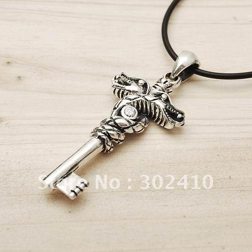 Free shipping!!SY13732,10pcs/lot, 925 silver key pendant(China (Mainland))