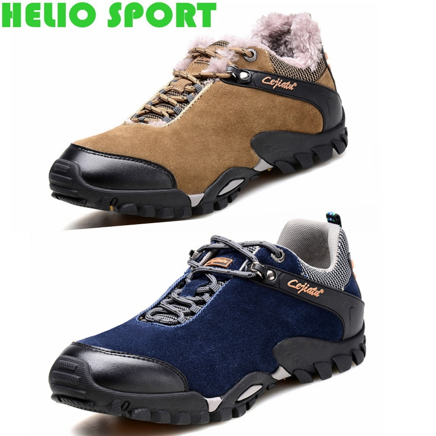 outdoor sport genuine leather waterproof men winter hiking shoes hunting zapatillas senderismo hiking shoes sneakers men h425(China (Mainland))