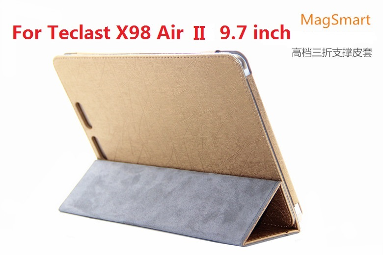 New Arrive Teclast X98 Air II case Top Quality 3 Folding Folio Stand Leather Case For