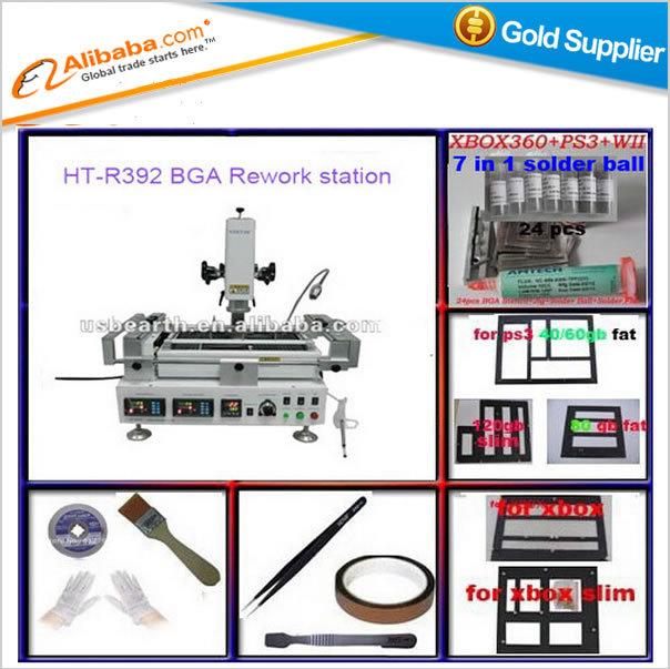 Hot sell bga machine IR + HR machine, HT-R392 bga station, welding machine for motherboard/PCB/PVC repair with bga kit(China (Mainland))