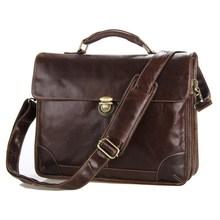 Jmd классический кожаный мужская шоколад для ноутбука сумка посланник сумочка горячая распродажа # Jmd кожаные сумки # 7091C
