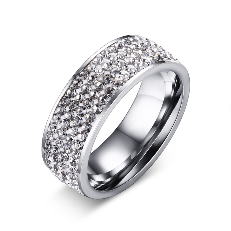 Aliexpress Buy Meaeguet Fashion Women Wedding Rings Stainless Steel Crystal Rings For