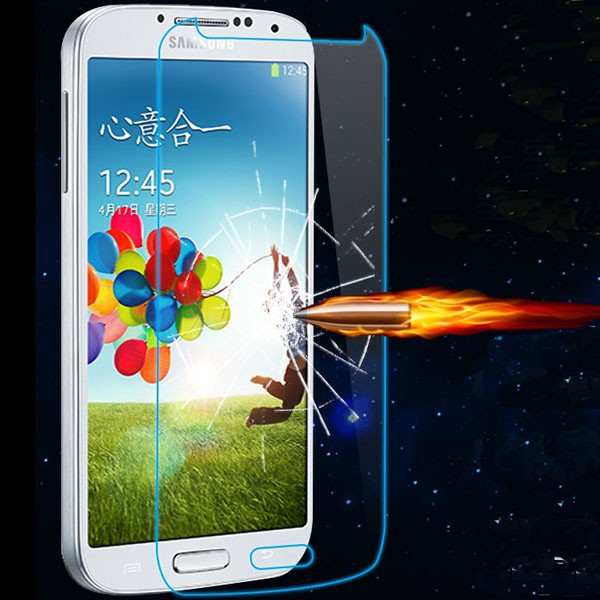 For Samsung Galaxy S4 Tempered Glass Screen Protector Shield Protective Film Cover For Samsung Galaxy S4 i9500 SIV free shipping(China (Mainland))