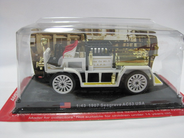 1:43 America 1907 Seagrave SC53 USA Alloy Fire Truck Model Toy Free shipping(China (Mainland))