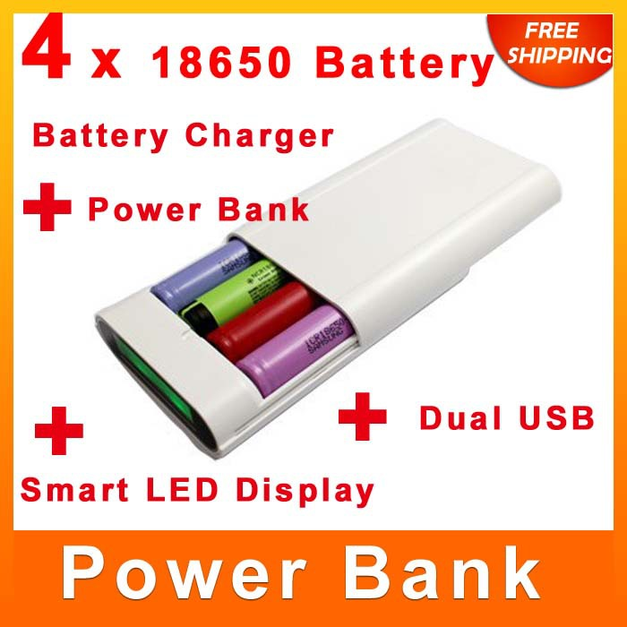 Universal Battery Power Bank Box Double USB Ports 1-3.7V 18650 Case Backup Best Travel 50000 mah 20000 - Manufacturer store