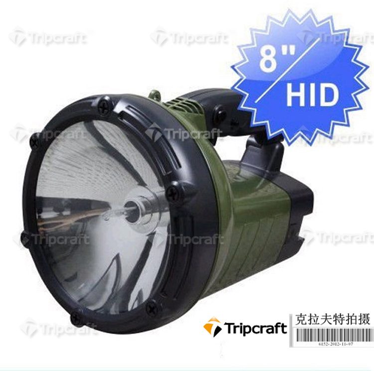 8 hid Hunting light 35W HID Search Light flash torch Spot Beam 6000K For Hunting Searching Fishing Hiking Camping light