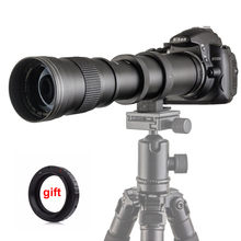 Buy 420-800mm F/8.3-16 Manual Super Telephoto Zoom Lens +T2 Mount Ring Adapter DSLR Canon Nikon Pentax Olympus Sony A6300 A7 for $94.59 in AliExpress store
