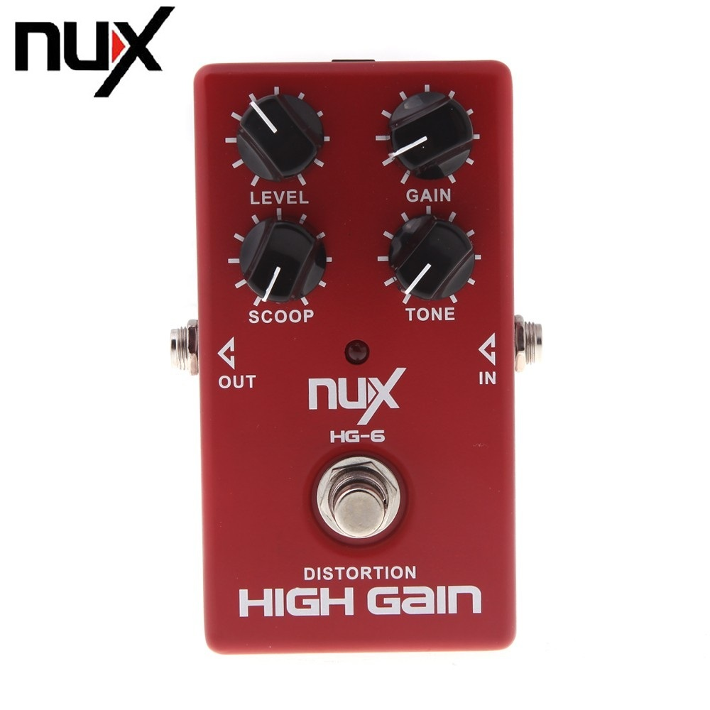 NUX HG-6 Modern High Gain Guitar FET simulate Distortion Overdrive Effect Pedal True bypass Hardware Switching(China (Mainland))
