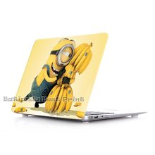 Unique Lovely Clear Cartoon Minions Cover Case for Apple MacBook Air 11 13 Pro Retina 13 15 New 12 inch Hard Protective Shell(China (Mainland))