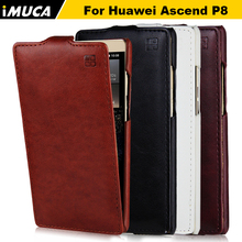 huawei p8 case 100% original leather case for Huawei Ascend P8 Vertical Flip Cover Mobile Phone Bags & Cases Accessories