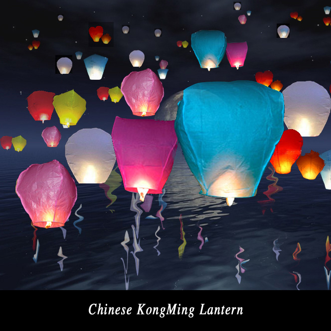 Hot sale 10Pcs Chineses Paper Lantern Lamps Party Decoration Sky Fly Wishing lanterns For Outdoor Balloon UFO Assorted Color(China (Mainland))