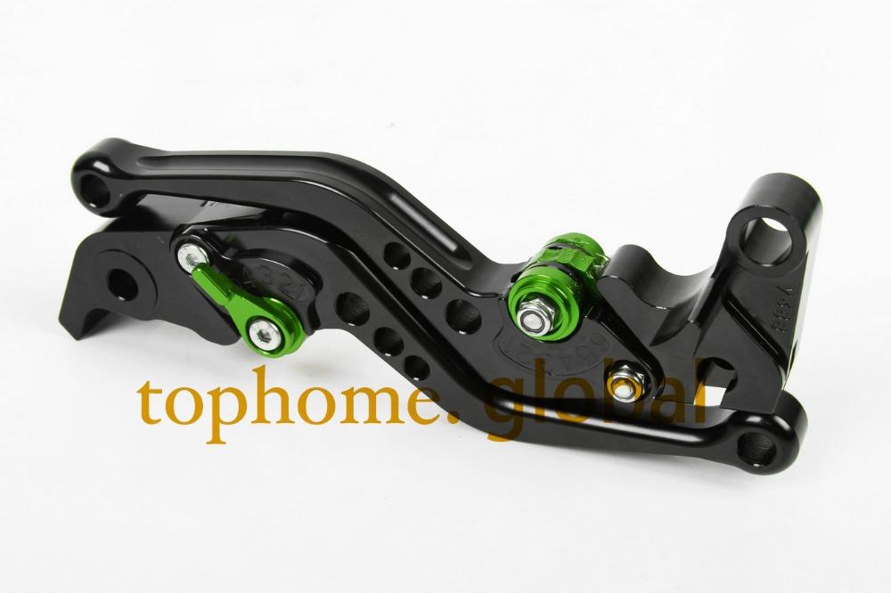 Motorcycle Accessories For Kawasaki ZX9R 1998-1999/ER-5 2004-2005 Short Black Handlebar CNC Clutch Brake Lever Brake Lug grips(China (Mainland))