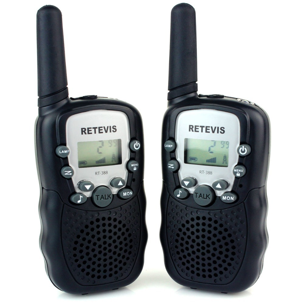 2pc Retevis RT388 Walkie Talkie UHF 462.5625-467.7250MHz 0.5W 22CH Kid Christmas Gift LCD Display Flashlight VOX A7027 - Flag Online Store store
