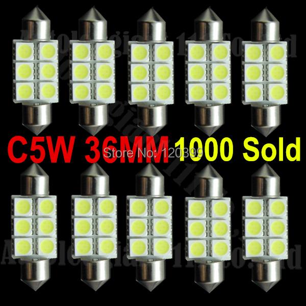 10pcs Super White 36mm Festoon 5050 SMD 6 LED C5W Car Led Auto Interior Dome Door Light Lamp Bulb Pathway lighting 12V Work Lamp(China (Mainland))