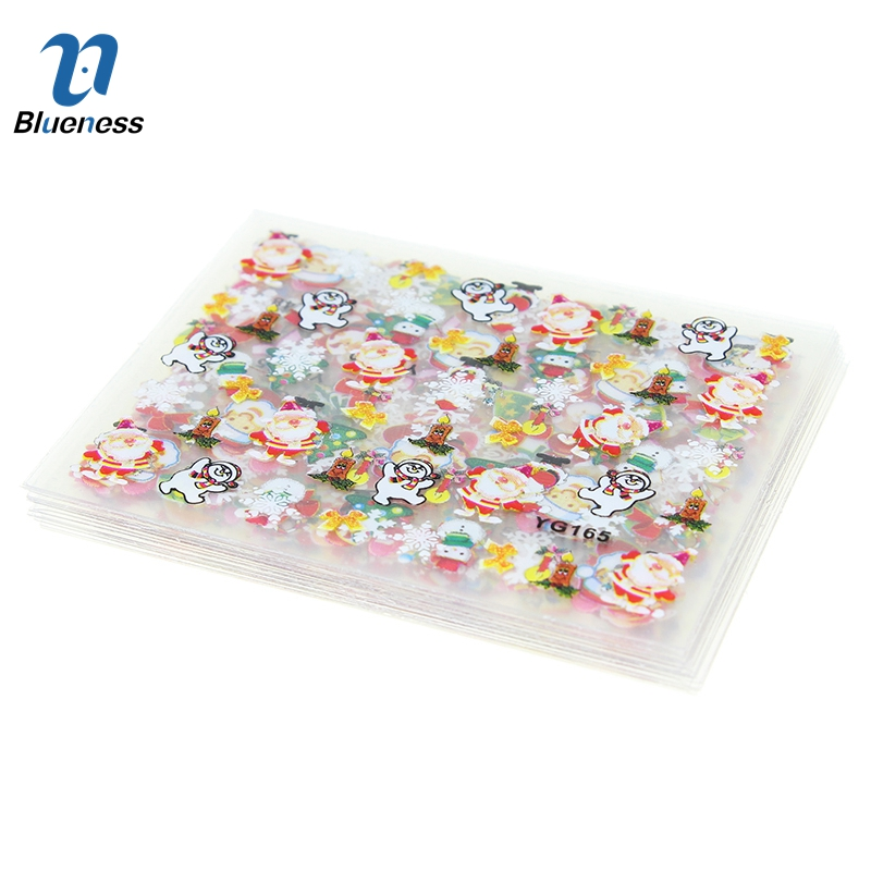 Blueness 3D Nail Art Stickers Beauty 24 Design Christmas Nail Foil Manicure Decals Foil Decorations for Manicure JH159(China (Mainland))