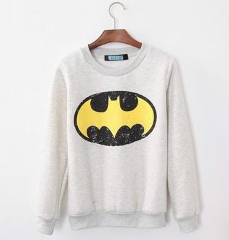 Women cotton hoodies batman fleece warm women's sweatshirts