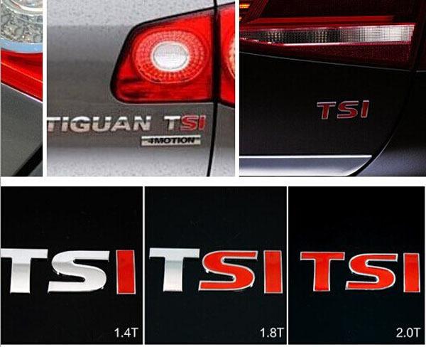 RED 1.4T 1.8T 2.0T TSI Sticker CHROME BADGE Rear EMBLEM DECAL Fit VW GOLF GTI JETTA PASSAT TURBO - Tip-Tops Technology Co.,Ltd store