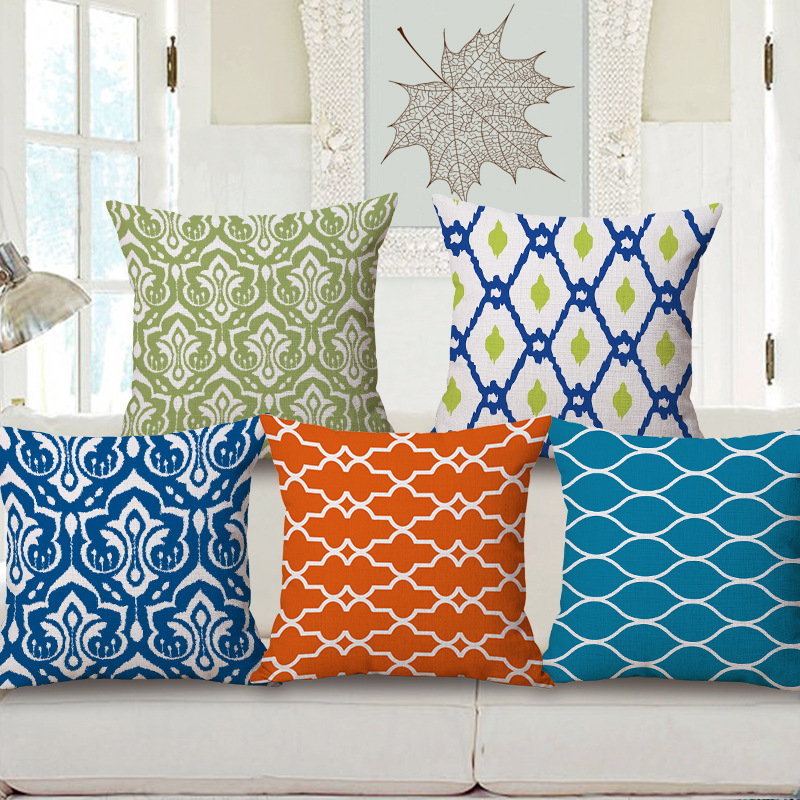 2016 Colors Geometry Cushion Without Core Custom Cotton