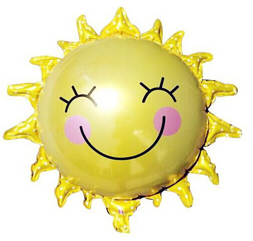 Sun Smiling Face Foil Balloons Birthday Party Wedding Decoration Cartoon Helium Balloon Children's Toys - Come Money Store NO.1 store