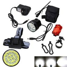 Buy Real Rechargeable 60000Lm Front Bicycle Light Headlight Bike Accessories 12000mAh Battery+Charger+Headband+Taillight for $34.04 in AliExpress store