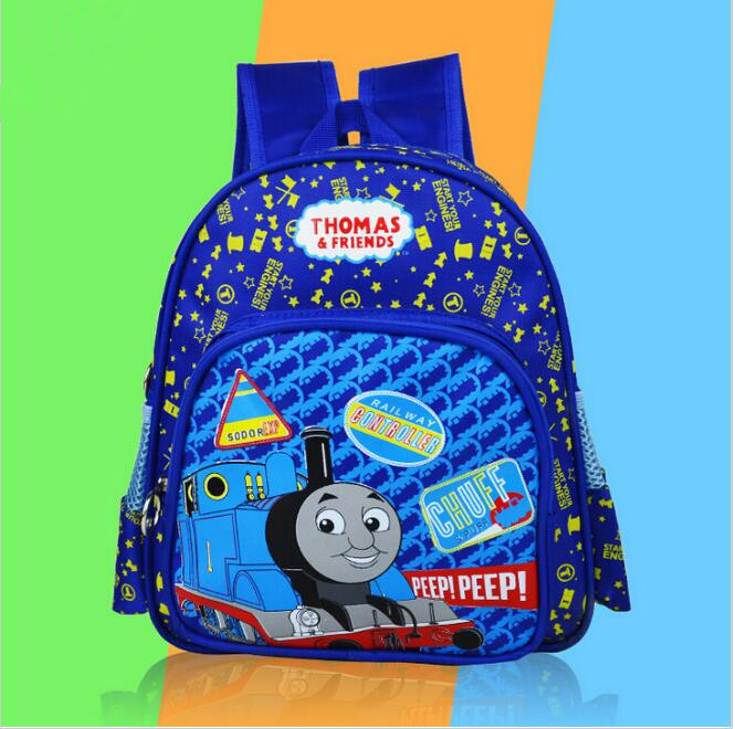 New cartoon Children backpacks Blue Color Thomas Train backpack for Kids Backpacks children schoolbag(China (Mainland))