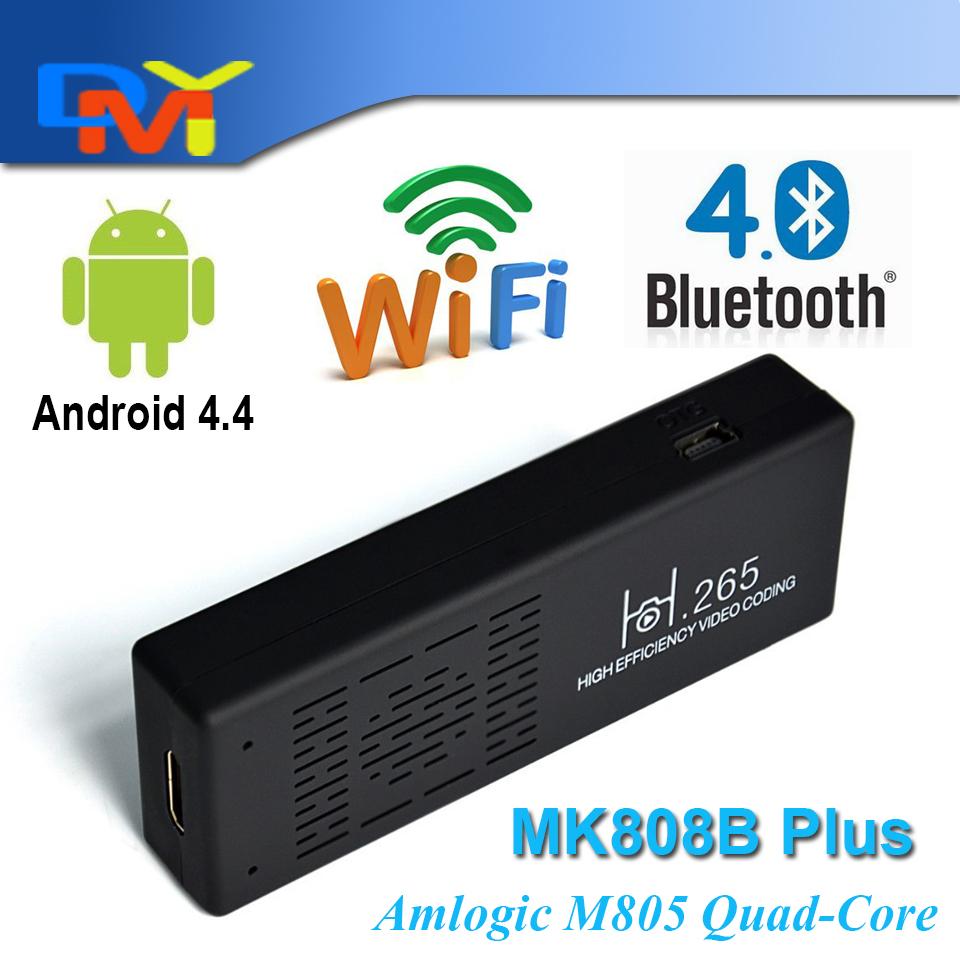 Original MK808 mk808B Plus Android 4.4 HDMI TV Stick Dongle Quad Core Amlogic M805 1GB+8GB mini pc Wifi Bluetooth Miracast XBMC(China (Mainland))