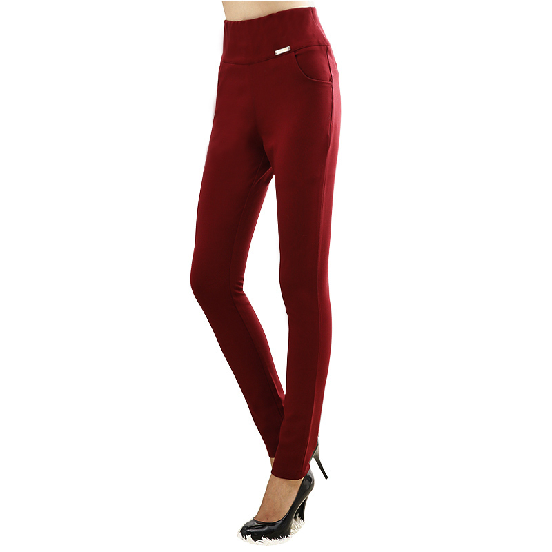 4 Solid color 6XL plus size elastic high waist 2015 spring long trousers for women casual sexy slim pencil skinny ladies pants(China (Mainland))
