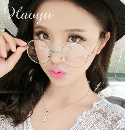 haoyu new metal glasses frame aviation eyeglasses frames men clear glasses gold shield frame with 5 color tg388 free shipping