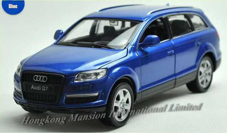 1:32 Scale Alloy Diecast Car Model For Audi Q7 Collection Model Pull Back Toys Car With Sound&Light -Silver/Blue/Black/Red/White(China (Mainland))