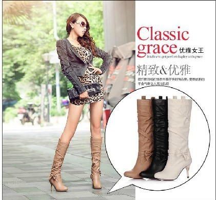 2013 boots female boots high-leg boots european size 33 34 35 41 42 43  free shipping