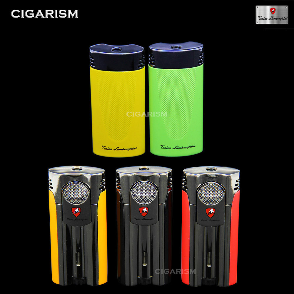 Flat Sliding Style Cigar Cigarette Tobacco Jet Flame Lighter(China (Mainland))
