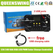 Высокая эффективность 12 В / 24 В 60A MPPT контроллера заряда с из светодиодов дисплей ( QWM-1460CAP )