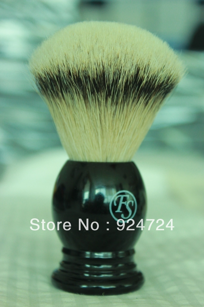 Frank shaving Silvertip badger brush,FAN shape Extra density knot 24mm+FREE STAND