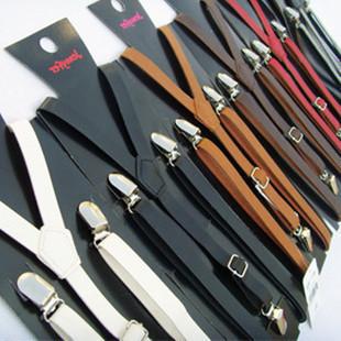 Fashion Adulit PU Suspenders Clip-on PU Leather Suspender mens Belts Straps 1.5x120CM, 300PCS