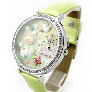 mini world brand wholesale fashion korea style Korea lady wrist Watches mini world factory(China (Mainland))