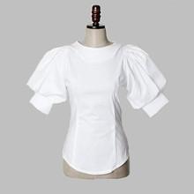2015 vintage blusas patchwork white Casual Shirt women tops lantern sleeve Ladies Clothing Blusa Roupas Feminino Camisa 0379(China (Mainland))