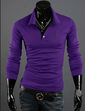 2015 Brand New Fall Fashion Men's Pullover Polo Sweater Deer Embroidery Mens Sweaters M ~ XXXL 10 color(China (Mainland))