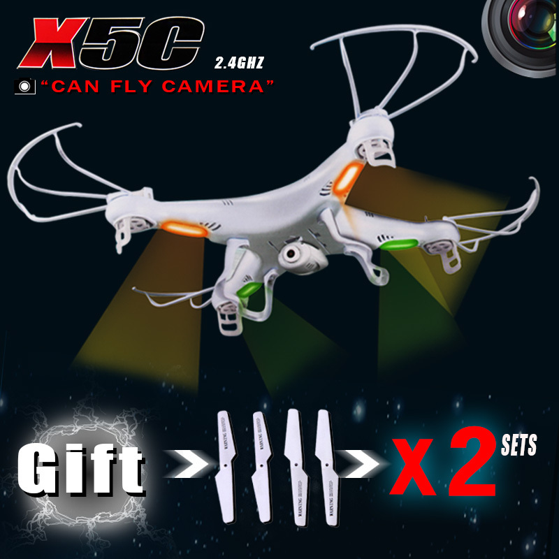Activities GIFT 3 sets blades RC Helicopter SYMA x5c 6 Axis GYRO Quadcopter 2MP HD Camera Syma X5 Without camera - Jade chardonnay 's store