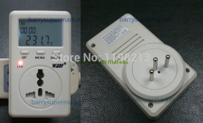 5pcs WF-D02B Swiss regulatory WanF multifunction metering socket/condition monitor/power meter/power socket (Energy Meters)(China (Mainland))