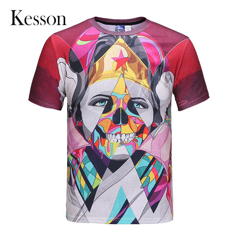 Casual Swag T-Shirt Men New Fitness Print Man T Shirt 3d 2016 Summer Short Sleeve Camiseta Cotton Harajuku European Style O Neck(China (Mainland))